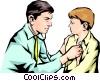 Vector Clip Art picture  of a Doctor with child patient