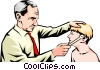 Doctor with young patient Vector Clip Art picture