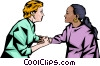 Vector Clip Art graphic  of a Nurse consoling woman