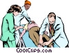 Vector Clip Art graphic  of a Emergency room