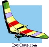 Hang glider Vector Clip Art picture