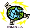 Vector Clipart graphic  of a Satellites