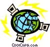 Satellites Vector Clip Art image