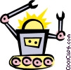 Out of control Robot Vector Clip Art picture