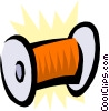 Vector Clip Art image  of a Spool of thread