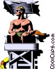 Vector Clipart picture  of a Lifeguard keeping watch