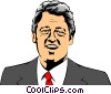 Vector Clip Art picture  of a Bill Clinton