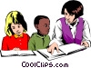 Teacher & students Vector Clipart picture