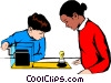 Vector Clip Art graphic  of a Students