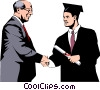 Vector Clipart picture  of a Graduate
