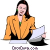 Vector Clipart picture  of a Businesswoman
