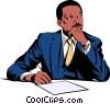 Businessman Vector Clip Art image