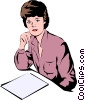 Vector Clip Art image  of a Woman