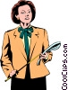 Vector Clip Art image  of a Woman executive