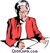 Vector Clipart picture  of a Woman executive