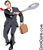 Vector Clipart graphic  of a Businessman tennis player