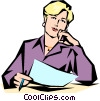 Vector Clipart graphic  of a Woman