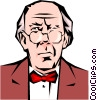 Vector Clip Art image  of a Ebenezer Scrooge