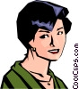 Vector Clipart illustration  of a Woman