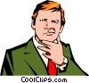 Vector Clip Art image  of a Businessman