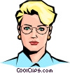 Vector Clip Art graphic  of a woman