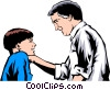 Vector Clipart graphic  of a Father & son