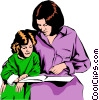 Mother & daughter Vector Clip Art picture