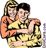 Vector Clip Art graphic  of a Husband & wife