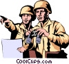 Military men Vector Clipart picture