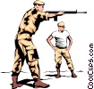 Military men Vector Clip Art picture