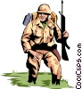 Military man Vector Clipart picture