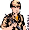 Military man Vector Clip Art picture
