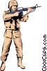 Military man Vector Clipart illustration