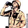 Vector Clip Art graphic  of a Military man