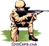 Vector Clipart illustration  of a Military man