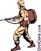 Military man Vector Clip Art image