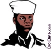 Vector Clip Art picture  of a Military man