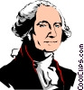 Vector Clipart picture  of a George Washington