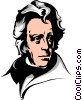 Vector Clipart image  of an Andrew Jackson