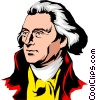 Vector Clipart illustration  of a Thomas Jefferson