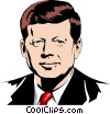 John F. Kennedy Vector Clipart graphic