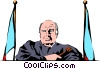 Vector Clip Art picture  of a Judge