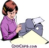 Vector Clip Art picture  of a Secretary