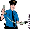 Policeman Vector Clipart illustration