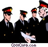 Vector Clip Art graphic  of a Policemen