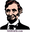 Vector Clipart illustration  of an Abraham Lincoln