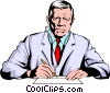 Vector Clipart image  of a Doctor
