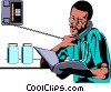 Vector Clip Art image  of a Doctor