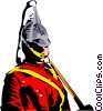 Vector Clip Art image  of a Guard