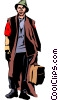 Homeless man Vector Clipart graphic